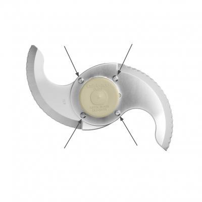 Riveted blade in Cuisinart food processor
