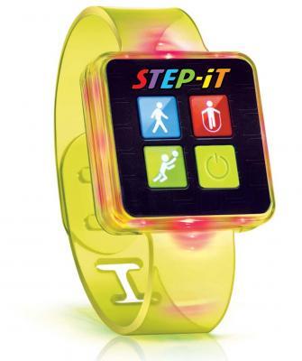 """Pulsera de actividad """"Step-iT"""" amarilla"""