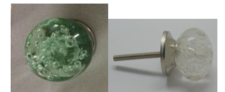Recalled Bubble Glass Style drawer knob.