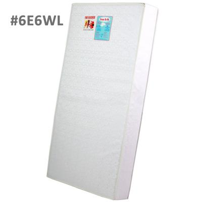 Firm foam crib and toddler bed mattress in white print