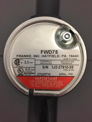 Franke sample serial number plate
