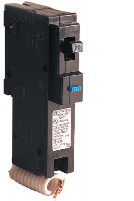 HOM CIRCUIT BREAKER- Test Button is BLUE on Recalled Circuit Breakers