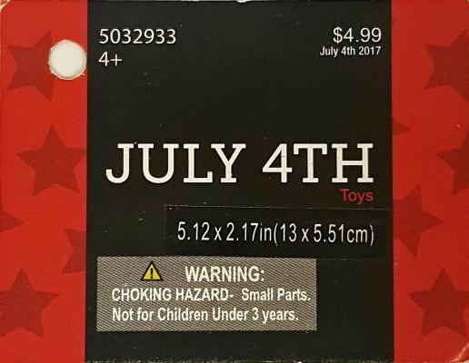 Hobby Lobby July 4th-themed light-up spinners with item number 9130082.