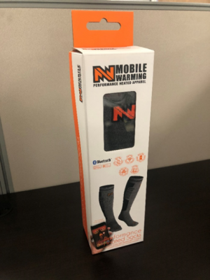 Mobile Warming Performance Heated Socks – front of box