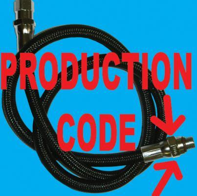 Scuba air hose date code