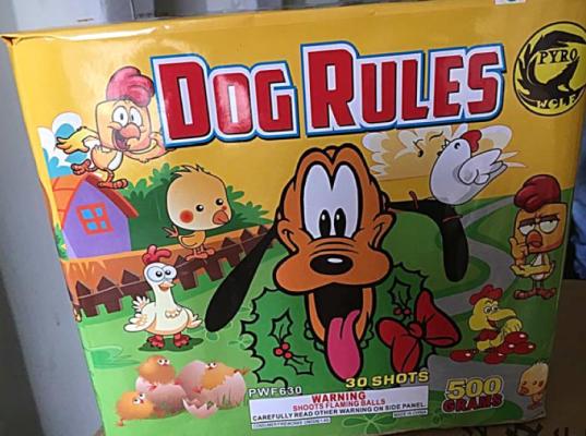 Dog Rules 30 Shot Cake