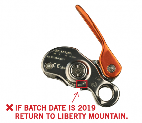 Recalled Beal Sas Birdie Belay Device
