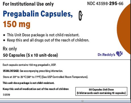 Recalled Dr. Reddy's Pregabalin Capsules 150 mg