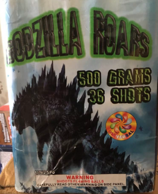 Godzilla Roars 36 Shot Cake