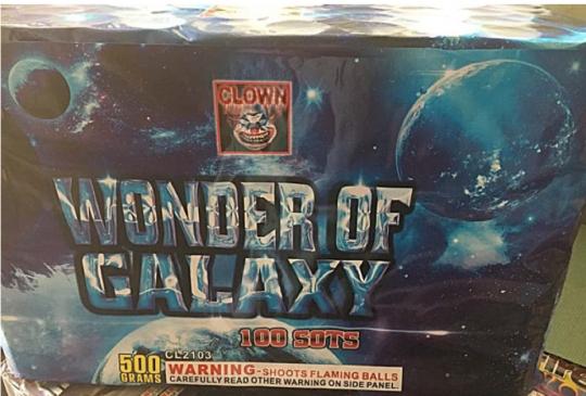 Wonder of Galaxy 100 Shot Cake