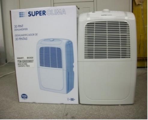 Recalled SuperClima dehumidifier