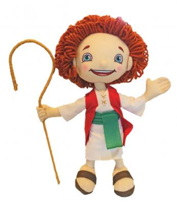Recalled Shepherd Boy Plush Toy with Removable Staff