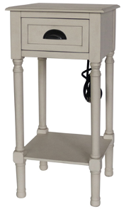 Recalled Style of J Hunt Home Accent Table with Charging Receptacle (FR9020)