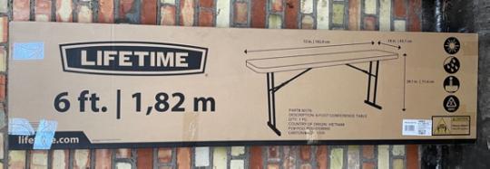 Recalled Seminar Table packaging