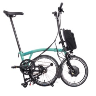 Recalled Brompton Electric Folding Bicycle (partially folded)