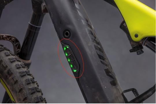 Location of recalled battery pack on Turbo Levo FSR electric mountain bike