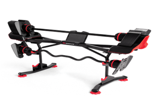 SelectTech 2080 Barbell with Straight Bar and Curl Bar in the Optional Stand