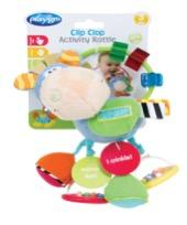 Recalled Playgro Clip Clop infant activity rattle with packaging