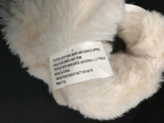 """Recalled Cat & Jack """"Chiara"""" Boots inside tag with item number."""