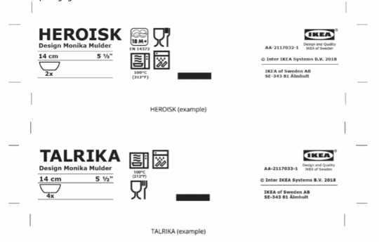 Product Packaging Labels
