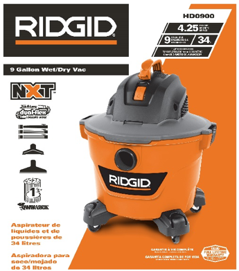 RIDGID NXT HD09000 packaging