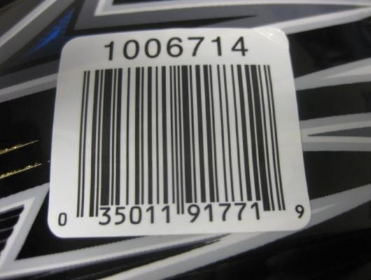 Sticker with Model Number
