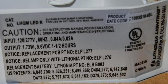Product label with Date Code on the upper right