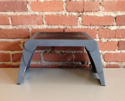 Step stool with assembled legs