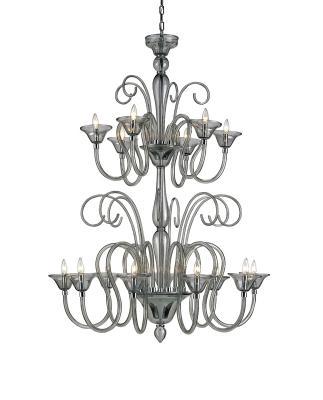 9151 Guilia chandelier, large, smoke