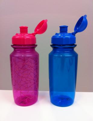 Pink with Crackle Design and Blue H&M Children's Water Bottles