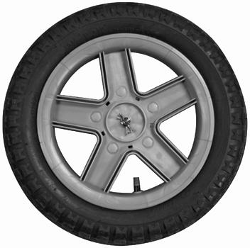 Wheel of Jeep Liberty Stroller