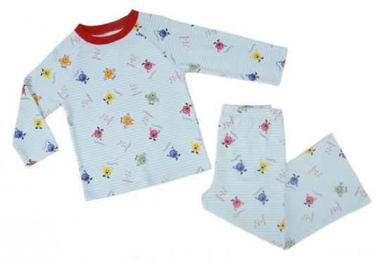 Klever Kids Long-Sleeved Striped Monster Pajama Set
