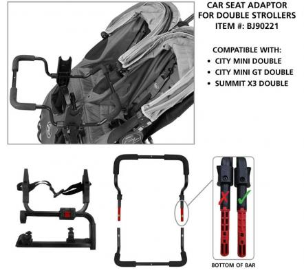 Double stroller and adaptor #BJ90221