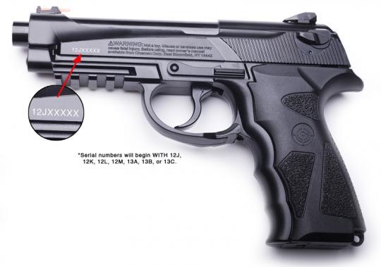 Recalled Crosman C31 and 9-C31BRM model air pistols