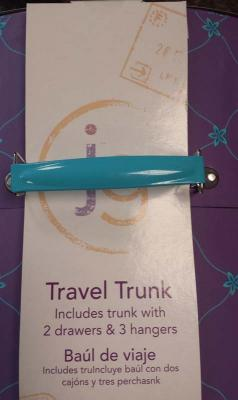 Metal handle on Journey Girl Travel Trunk