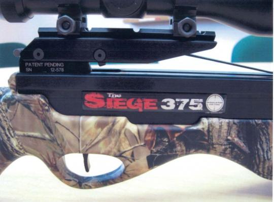 """""""The Siege"""" and the model number are printed on the crossbows"""