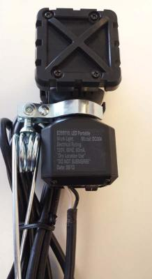 Model and date code stamp on the back of Ace Clamp-On LED Work Light