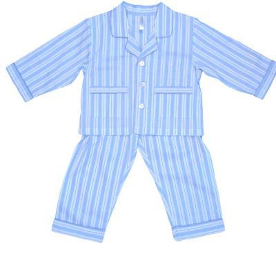 Empress Arts blue striped children's pajamas