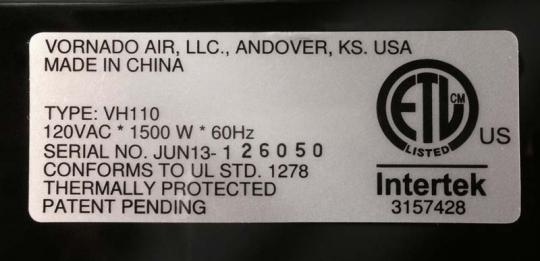 The serial number appears on a silver decal located on the bottom of the unit.