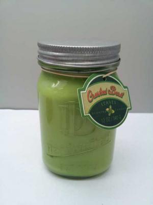 DD brand 12-ounce Mason jar candle