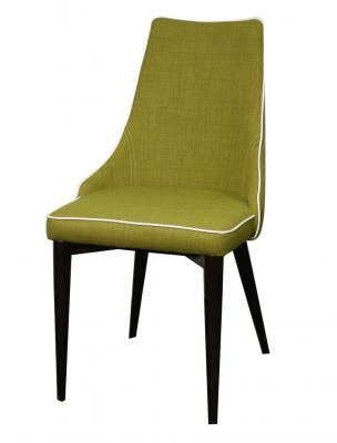 Abby Dining Chair with green fabric
