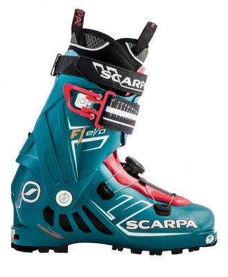 Women's F1 EVO ski boot with Tronic system component