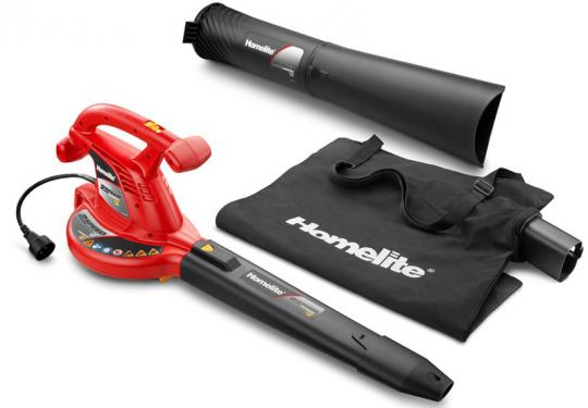 Homelite electric leaf blower vacuum, attachment and bag