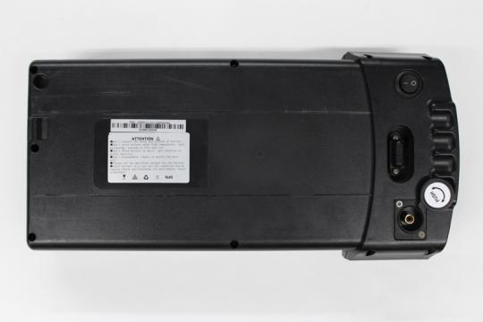 Location of the serial number on Pedego electric bike plastic batteries