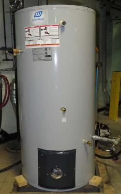 John Wood brand model JW717 70 gallon oil-fired water heater