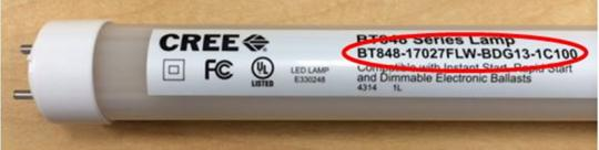 Product Number:  Retail / Consumer LED T8 Lamp