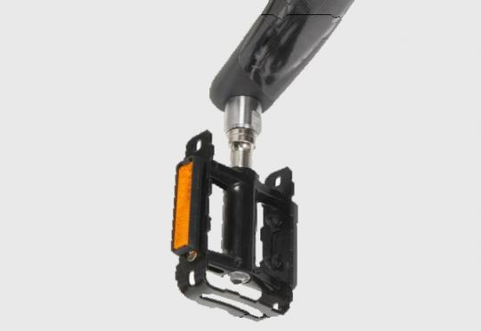 Recalled Pedal Axle Extenders as installed