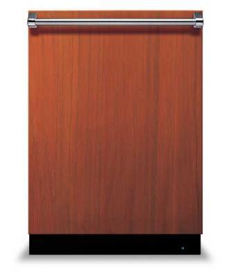 Viking Range dishwasher, custom wood panel