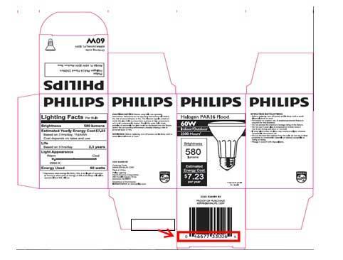 Philips Halogen Light bulb box packaging