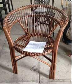 Ross Rattan Arm Chairs